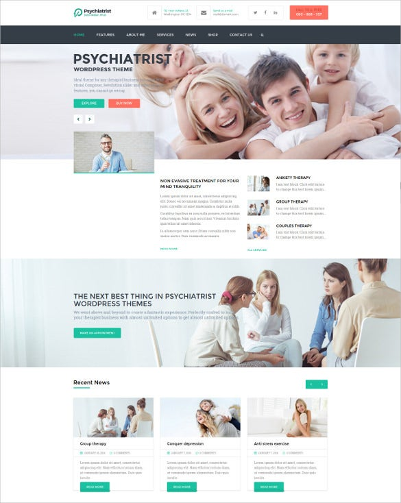 psychiatrist wordpress theme