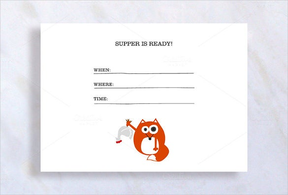 cute dinner invitation template