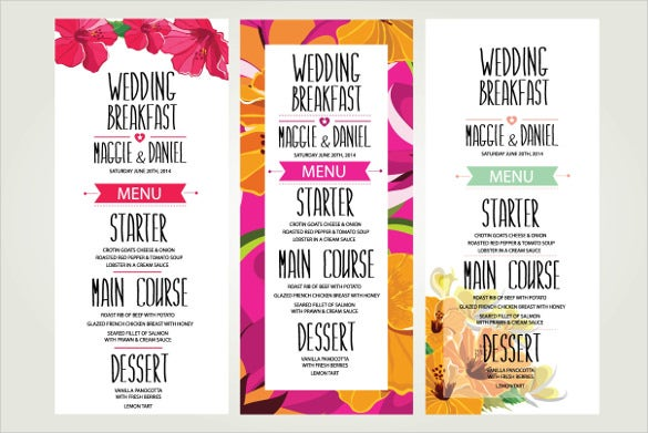 beautiful 3 wedding invitation template