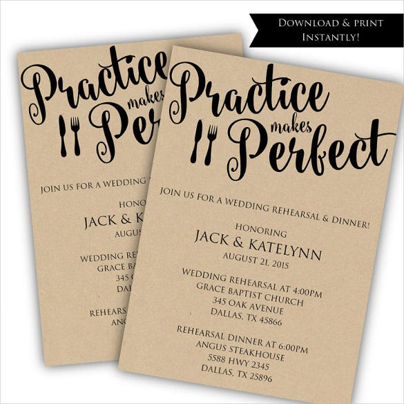 best rehearsal dinner invitation template