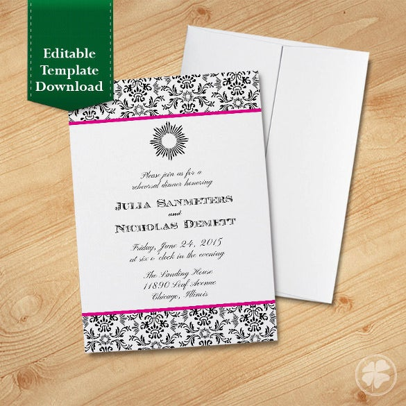 classic party dinner invitation template