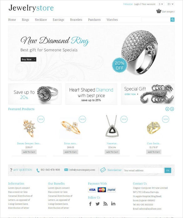 jewelry store prestashop responsive html5 theme