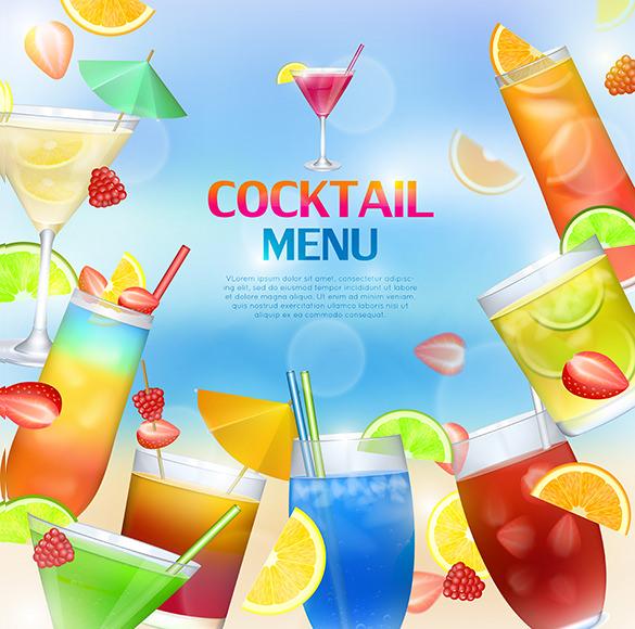 celebration cocktail menu template
