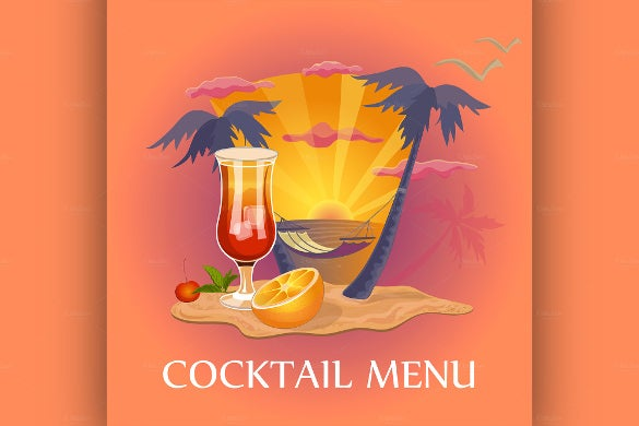 delicious cocktail menu template