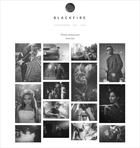 blackfire photo wordpress theme