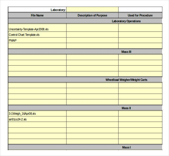 software management inventory template