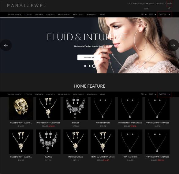 premium responsive parallax jewelry bootstrap theme