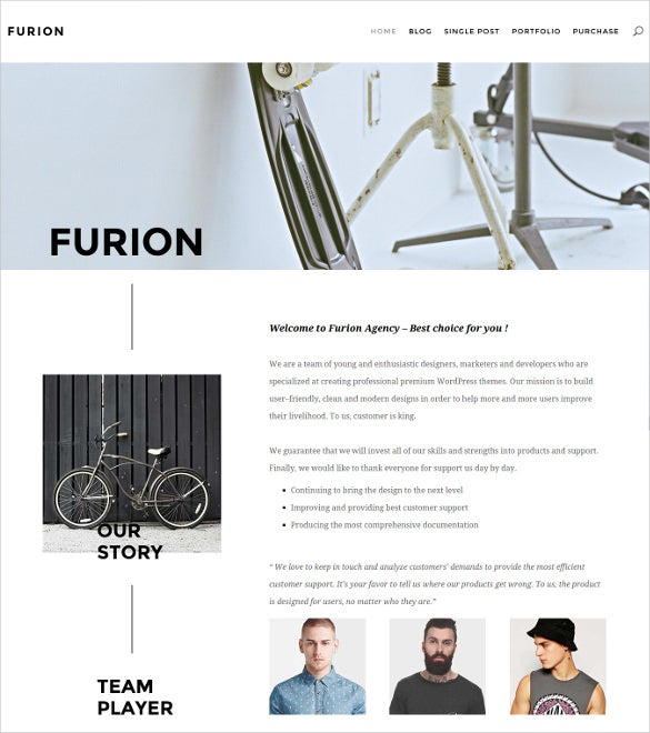 furion creative blog portfolio wordpress theme2