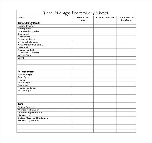 Restaurant Inventory Template - 17+ Free word, Excel ...
