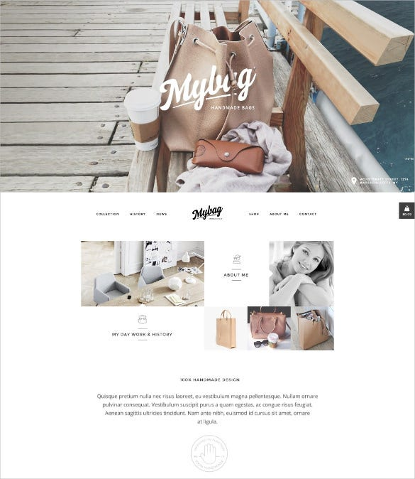 mybag single product woocommerce blog theme