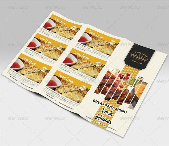 breakfast menu design template download