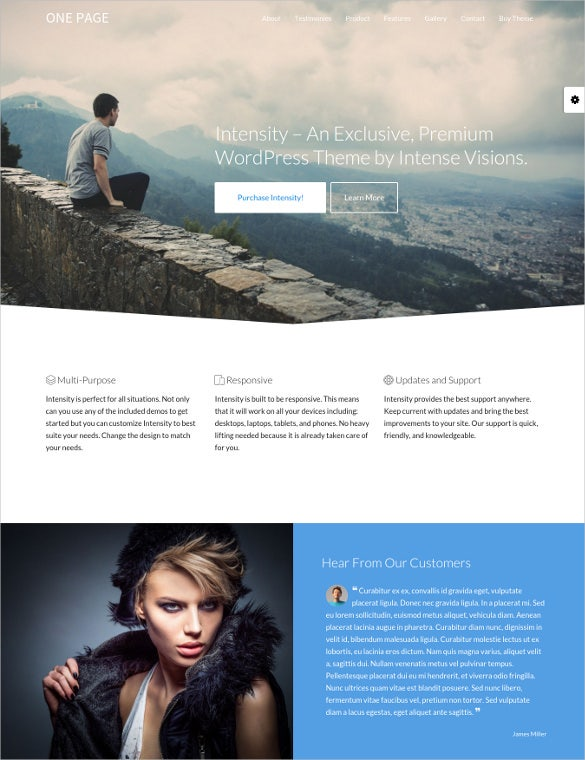 intensity responsive multi purpose blog theme