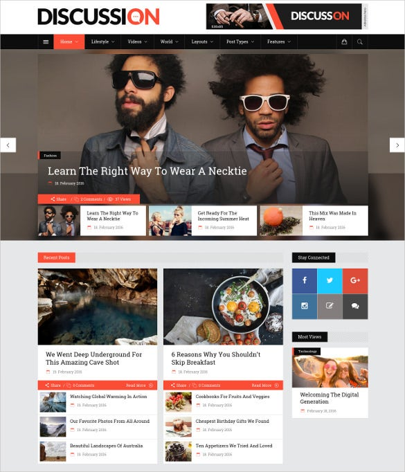 discussion – a powerful news magazine blog theme