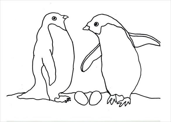 twin penguins template