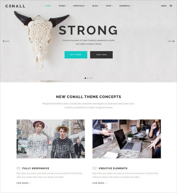 conall a clean beautiful multipurpose blog theme