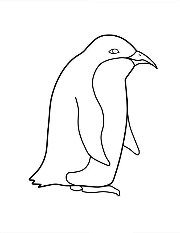 This is a picture of Declarative Penguin Template Printable