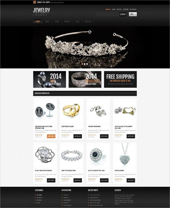jewelry responsive jigoshop bootstrap theme