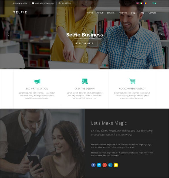 selfie responsive multi purpose wordpress blog theme