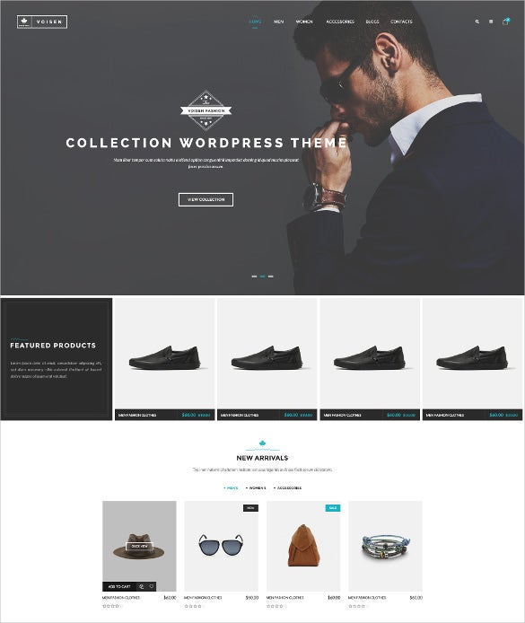 voisen woocommerce responsive fashion blog theme