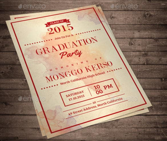 formal graduation invitation photishop template download