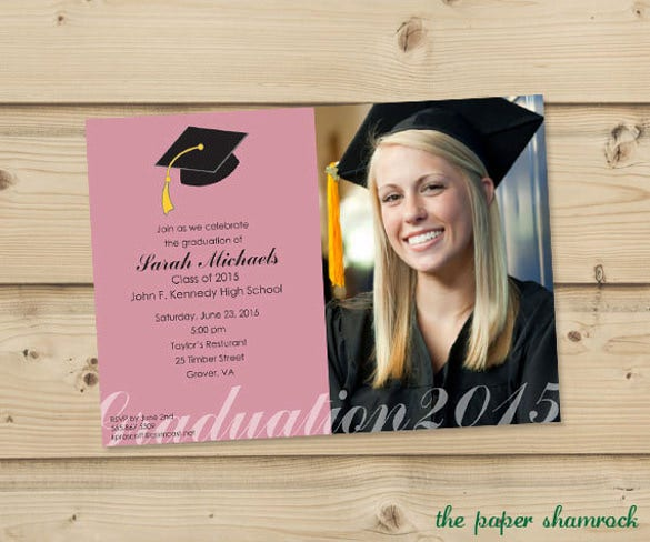 photo graduation invitation template