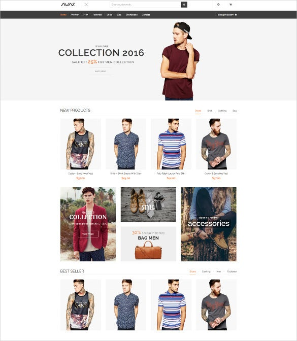 avaz fashion responsive woocommerce wordpress blog theme