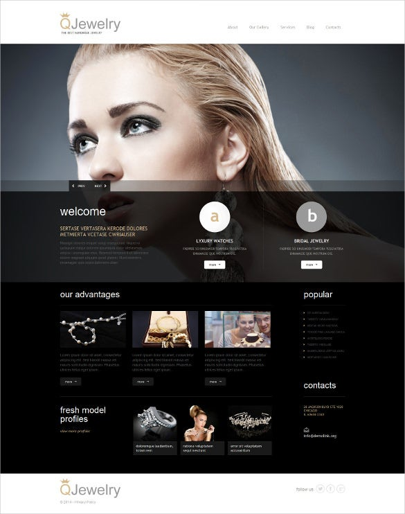 jewelry responsive wordpress bootstrap theme