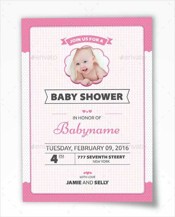 baby shower invitation psd template download