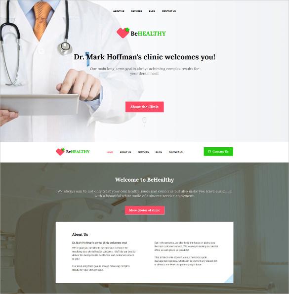 medical responsive moto cms 3 blog template