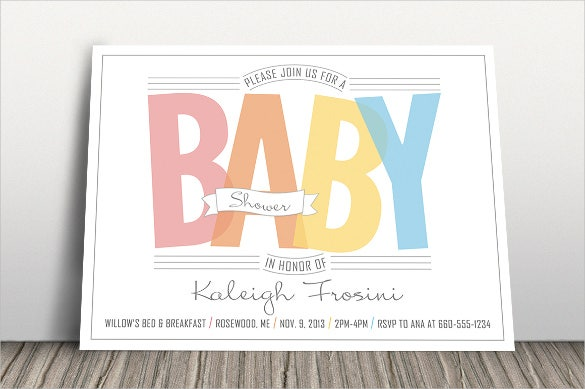 rainbow baby shower invitation template
