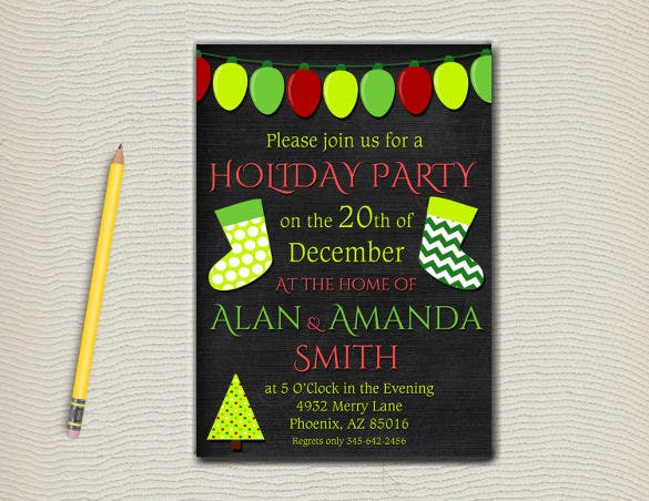 Formal invitation templates 62 free psd vector eps ai format formal holiday party invitation template stopboris Gallery