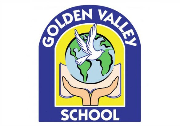 vector logo golden valley school
