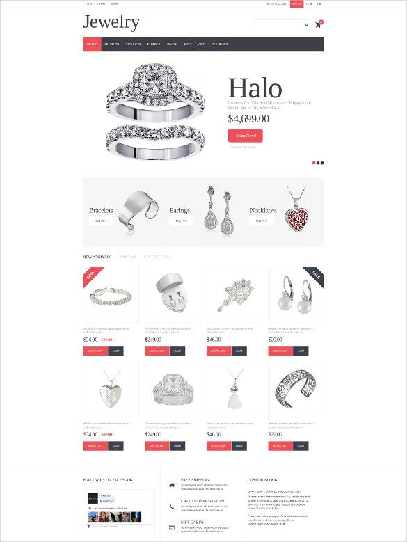 silver jewelry prestashop bootstrap theme