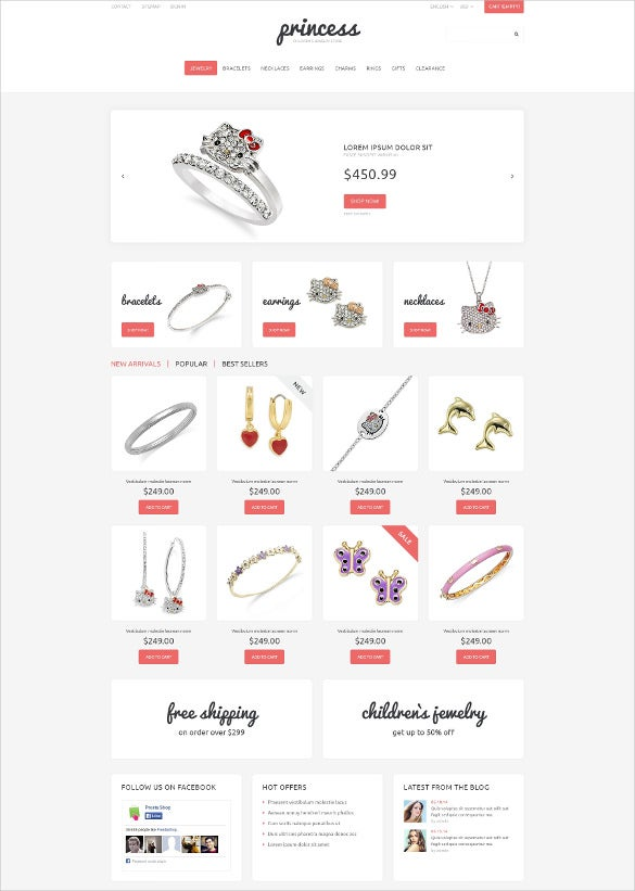 childrens jewelry prestashop bootstrap theme