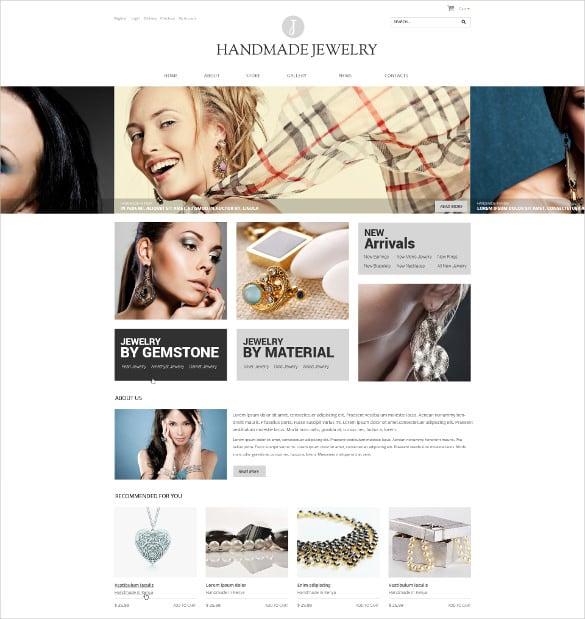 handmade bootstrap jewelry woocommerce theme