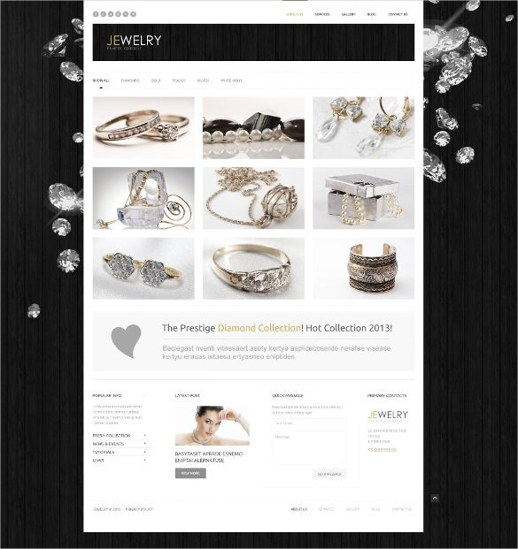 jewelry wordpress bootstrap theme