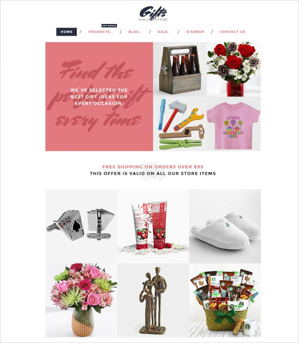 gifts online store shopify blog theme