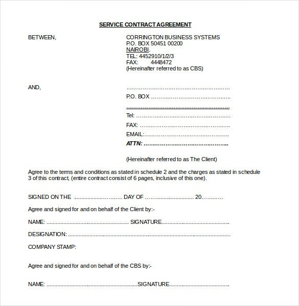Contract Agreement Templates Free Sample Example Format - Contracts and agreements templates