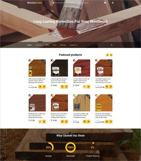 wood finishes shopify blog theme
