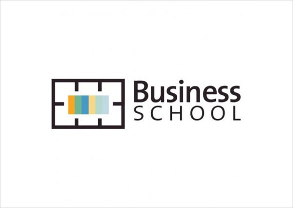 vector logo business school