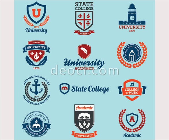 school badges emblems icon logo