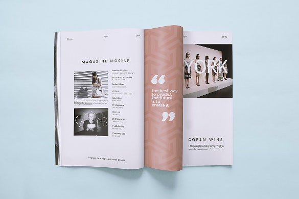 design 5 magazine mockup template