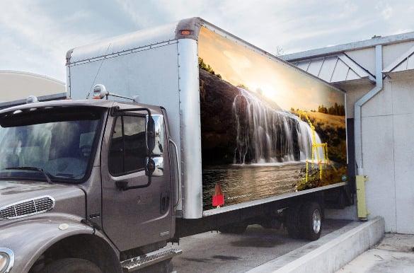 box truck mockup template