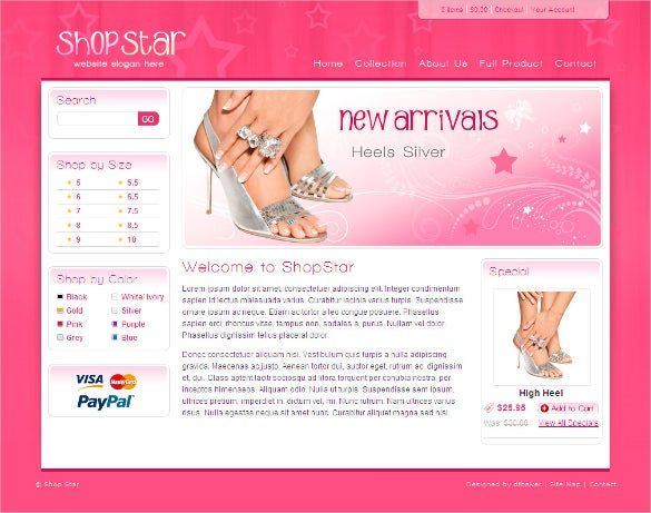 responsive jewelry php template