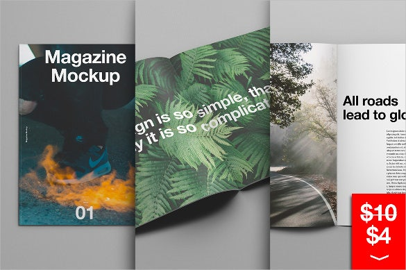 best magazine mockup template