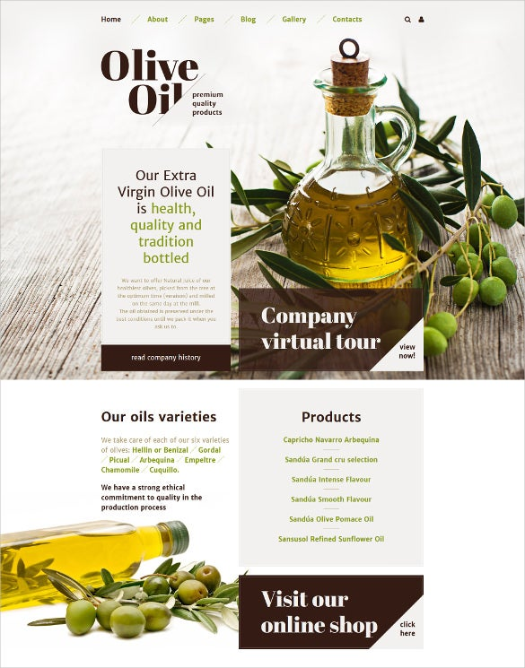 olive oil joomla blog template