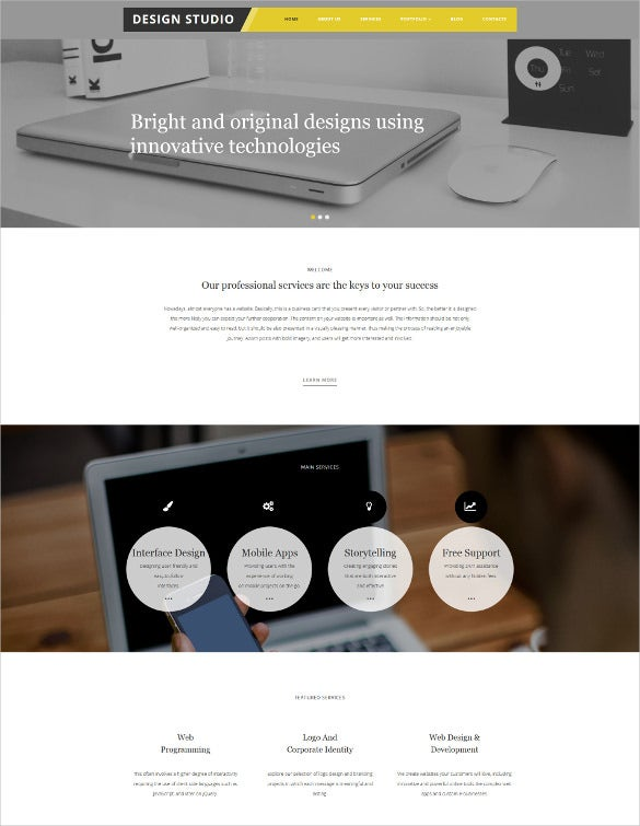 design studio responsive moto cms 3 blog template1