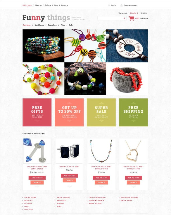 handmade jewelry virtuemart php template
