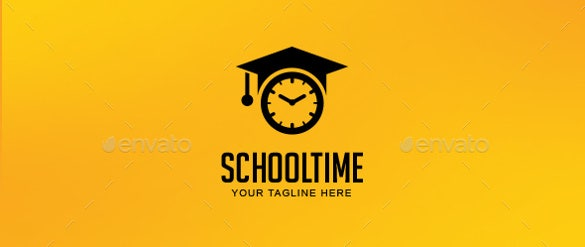 school time logo template