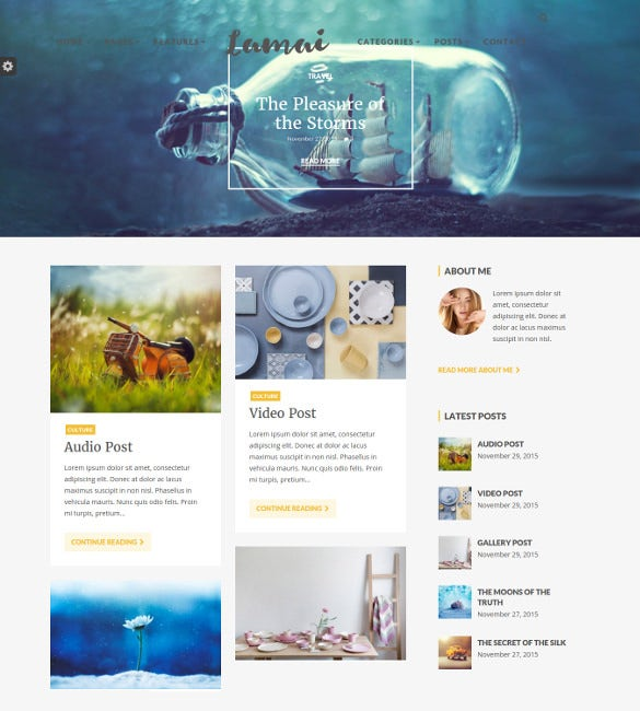 lamai wordpress blog theme